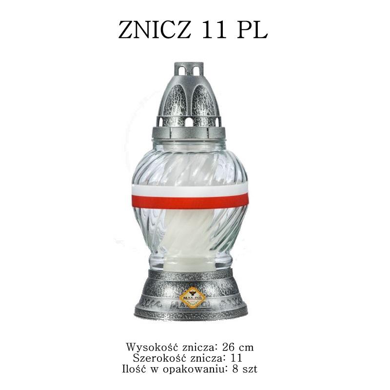 znicz z flagą polski
