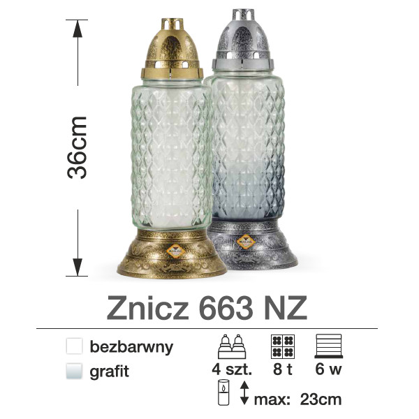 znicze srebrne i złote
