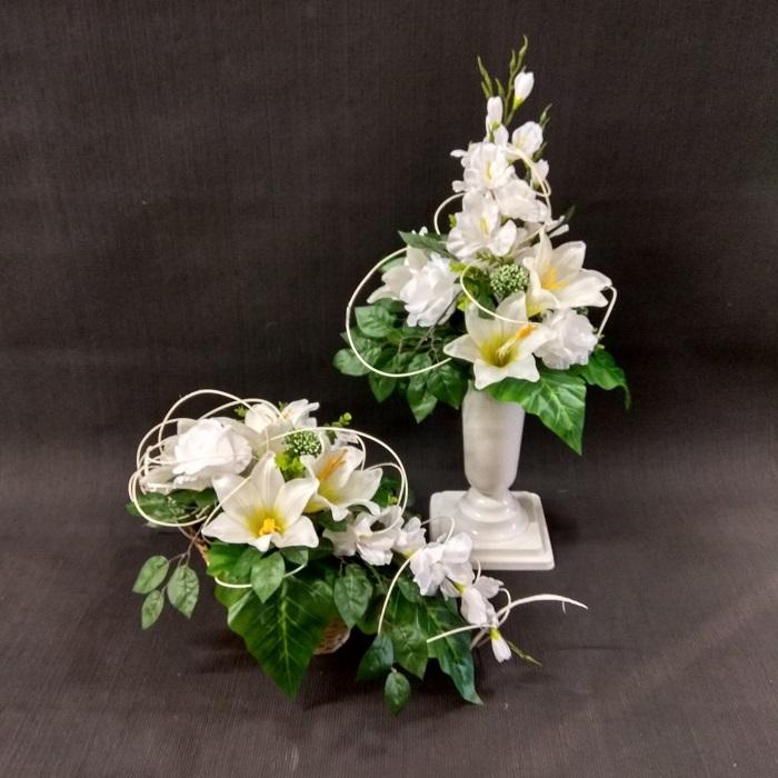 kompozycja białe kwiaty